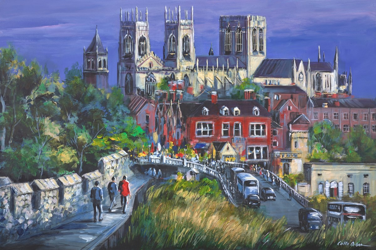 York View by csilla orban -  sized 36x24 inches. Available from Whitewall Galleries